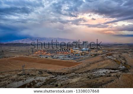 Power Plant in the South of Iran taken in January 2019 taken in hdr Stockfoto ©