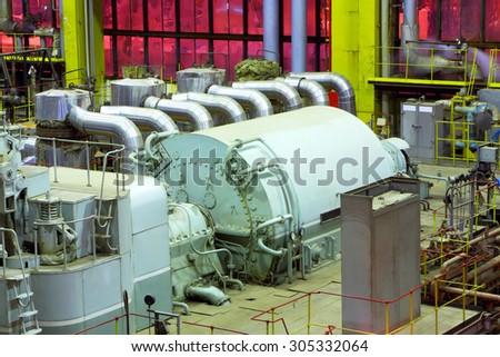 Power plant interior Photo stock ©