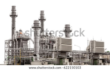 Power plant station building isolated on white background #622150103