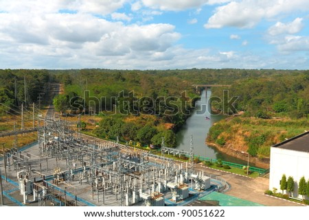 Power plants.Dam Power Plant in Thailand. - stock photo