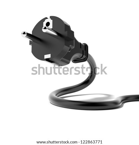 Power Plug isolated on a white background