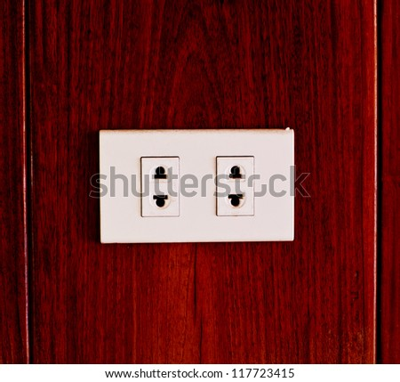 power plug on wood backgrounds