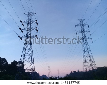 Power pole or electric pole