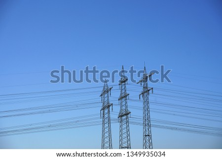 Power pole Power line #1349935034