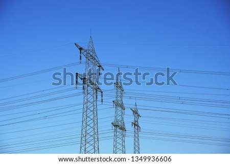 Power pole Power line #1349936606