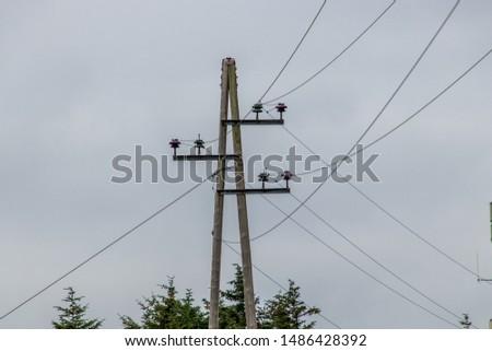 Power pole/power line in Norway.