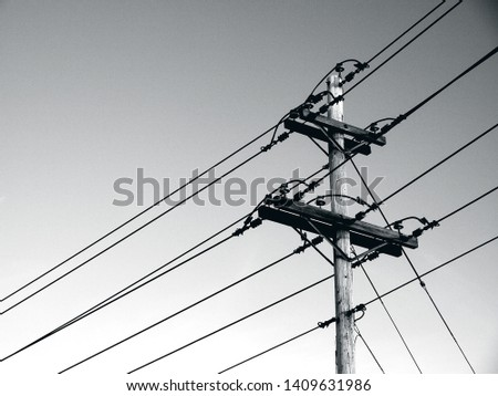 Power poles and power lines