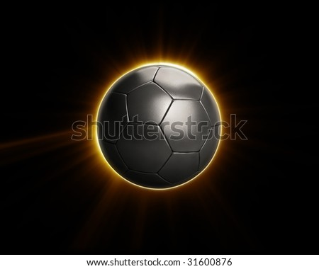 Power Soccer Football Flare - stock photo