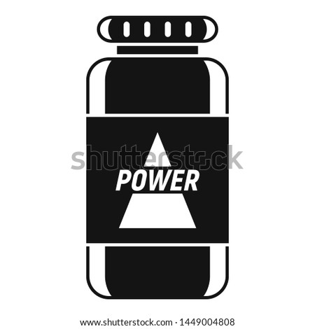 Power sport nutrition icon. Simple illustration of power sport nutrition icon for web design isolated on white background