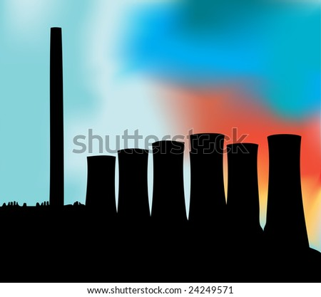 Power Station Bitmap Background