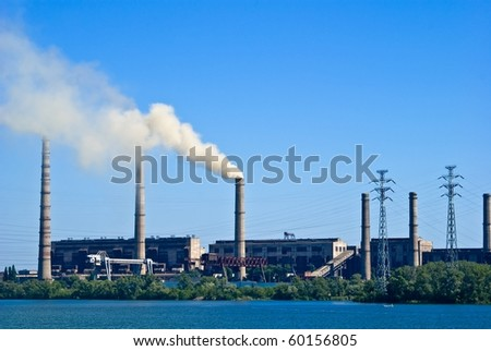 power station on a river