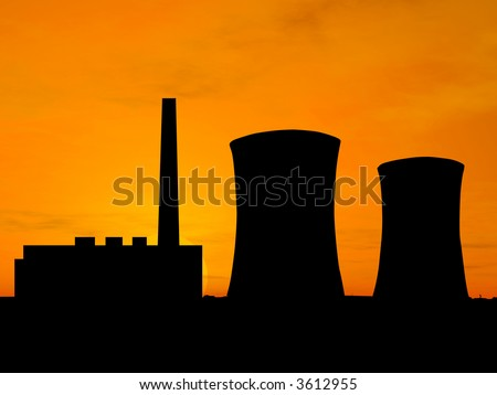 Power station over orange sky (see more in my portfolio)