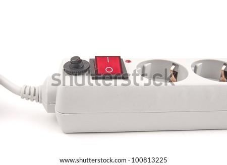power surge - isolated on white background