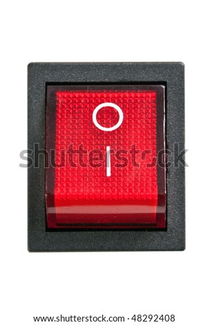 power switch on white background