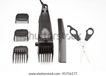 power tool to cut the hair - stock photo