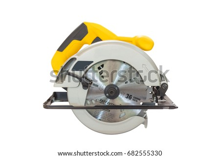 Power Tools , circular saws on a white background