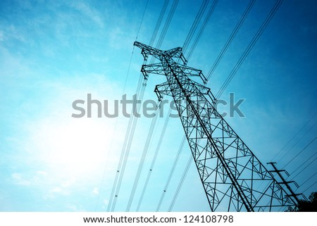 power tower and transmission lines