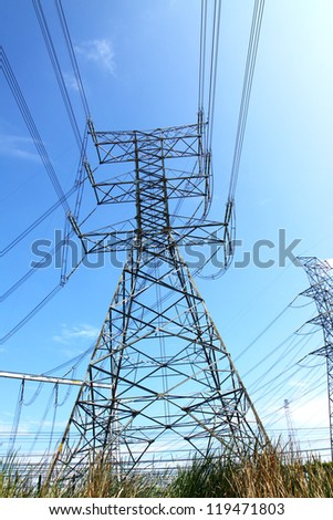 Power Transmission Line Tower.