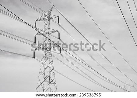 Power transmission lines against  sky / Power transmission lines