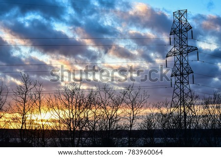 power transmission tower #783960064