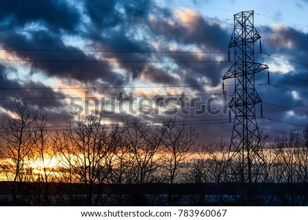power transmission tower #783960067