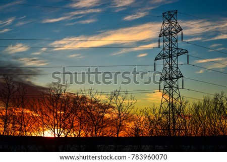 power transmission tower #783960070