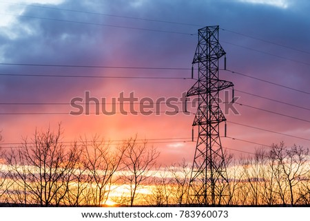 power transmission tower #783960073