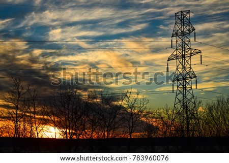 power transmission tower #783960076