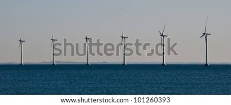 Power turbine in the sea