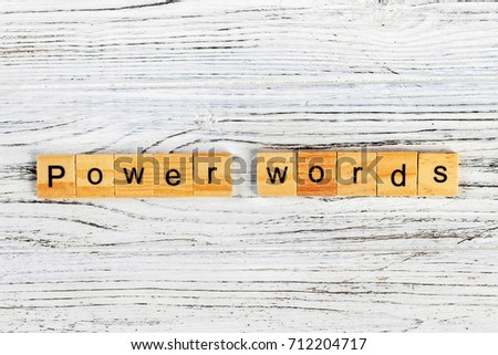 power words word made with wooden blocks concept #712204717