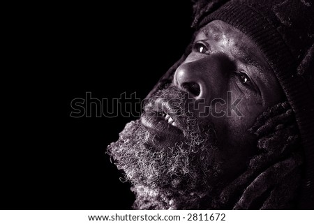 Homeless Black Man Clipart Homeless black man - stock