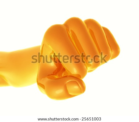 Powerful golden fist