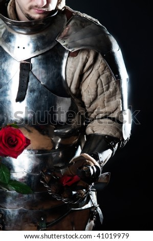 Powerful heavy fighter with red rose