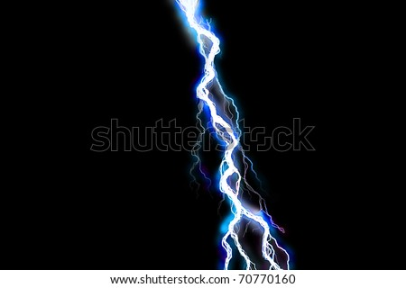 Powerful lightning bolt illustration