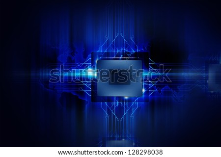 Powerful Processor - Nano Technology - Computers Background. Electronics Illustrations Collection.