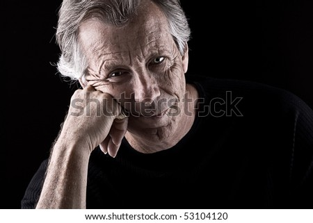 Powerful Shot of a Frustrated Senior Male