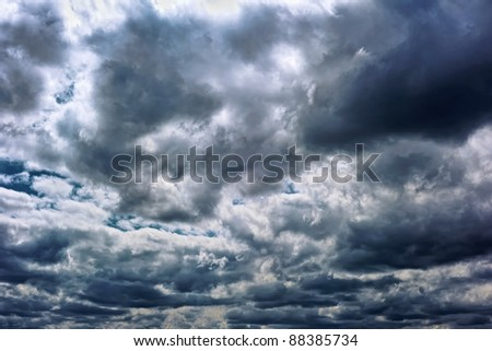 Powerful storm clouds