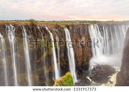 Powerful Victoria Falls from the side of Zimbabwe #1331917373