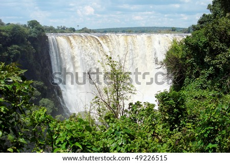 Powerful Victoria Falls in Zimbabwe and Zambia