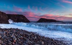 Powerful waves batter Ireland's south east coastline