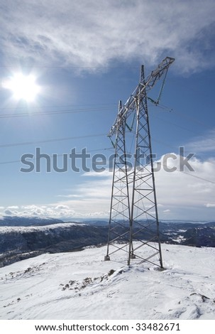 Powerline in landscape