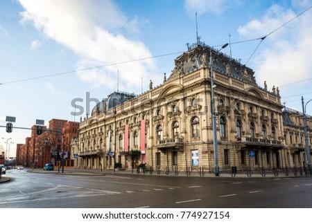 Poznanski Palace transformed to public museum in the city of Lodz, Poland Zdjęcia stock ©