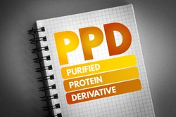 PPD - Purified Protein Derivative acronym, medical concept background