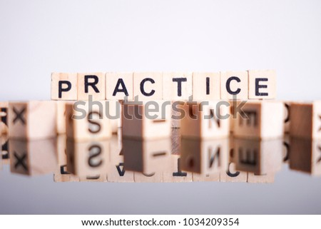 Practice word cube on reflection