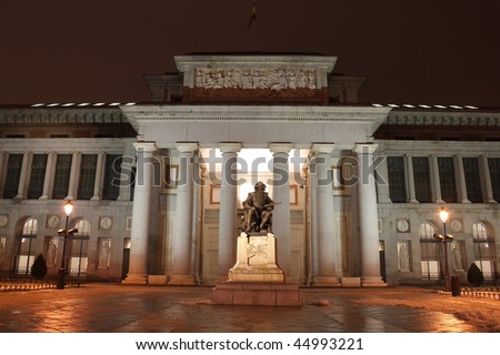 Prado Museum at night, Madrid