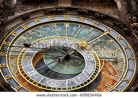 Prague Astronomical Clock in the Old Town