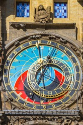 Prague Astronomical Clock, or Prague Orloj (Czech: Prazsky Orloj), medieval astronomical clock located in Prague, Czech Republic. First installed in 1410. 3rd-oldest astronomical clock in the world