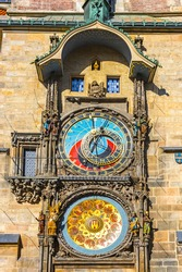 Prague Astronomical Clock, or Prague Orloj (Czech: Prazsky Orloj), medieval astronomical clock located in Prague, Czech Republic. First installed in 1410. 3rd-oldest astronomical clock in the world