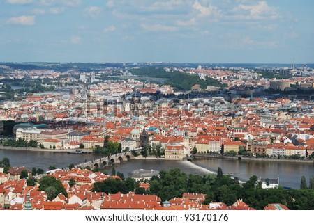 prague,capital of czech republic, with its palaces, bridges and castles