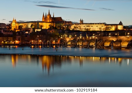 Prague Castle during the sunset, Czech Republic.